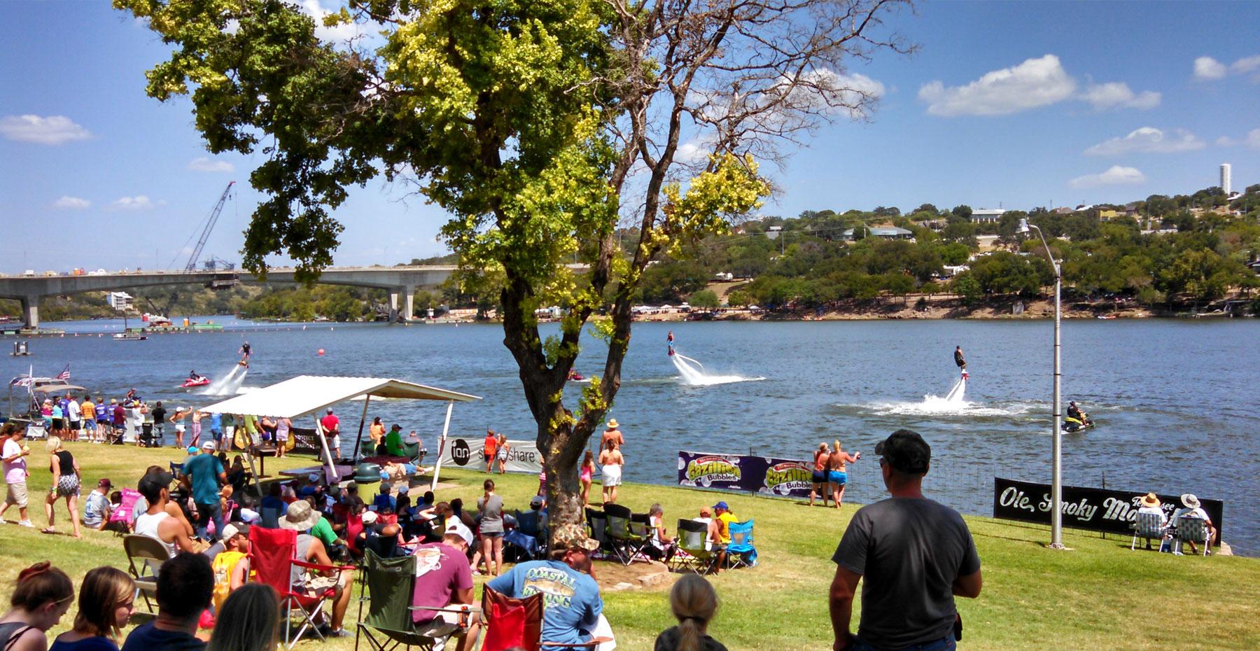 Festival on the lake near Marble Falls, TX